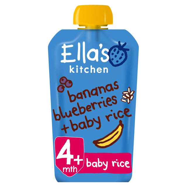 ellas kitchen bananas blueberry baby rice - Ellas Kitchen