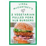 Linda McCartneys Vegetarian Pulled Pork Quarter Pounder Burgers 2 Pack