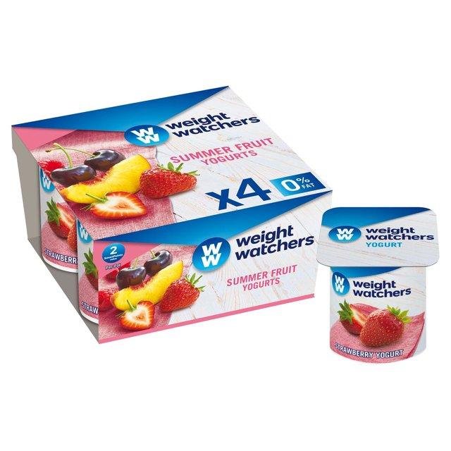 morrisons weight watchers summerfruit yogurt 4 x 110g product information. Black Bedroom Furniture Sets. Home Design Ideas