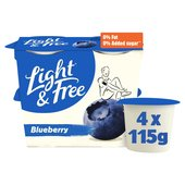 Danone Light & Free Blueberry Yogurt
