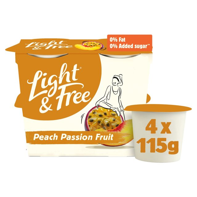 Danone Light & Free Peach & Passion fruit Yogurt