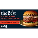 Morrisons The Best 4 Scotch Beef Quarter Pounders
