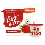 Danone Light & Free Strawberry Yogurt