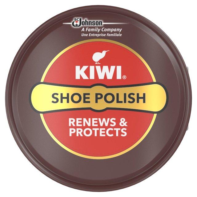 Kiwi Shoe Polish Tin Dark Tan