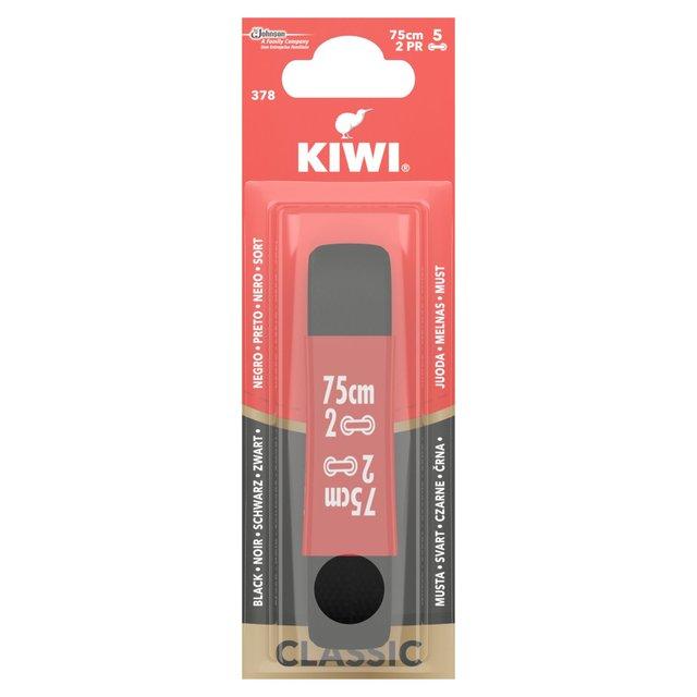 Kiwi Classic Shoe Laces Round Black 75cm