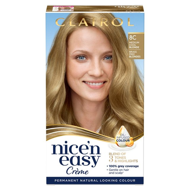 Nice'n Easy Permanent Hair Dye 8C Medium Cool Blonde