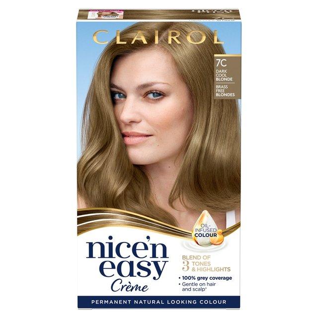 Morrisons Nice N Easy 7c Natural Dark Cool Blonde