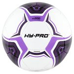 Hy-Pro White & Purple Deflated Football Size 5