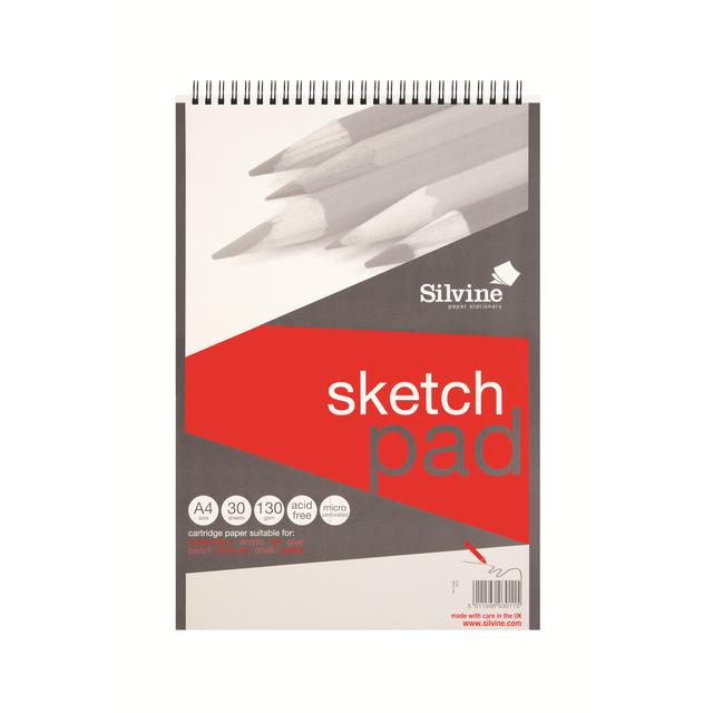 Silvine A4+ Twin Wire Sketch Pad