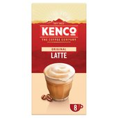 Kenco Latte Instant Coffee 8 Sachets