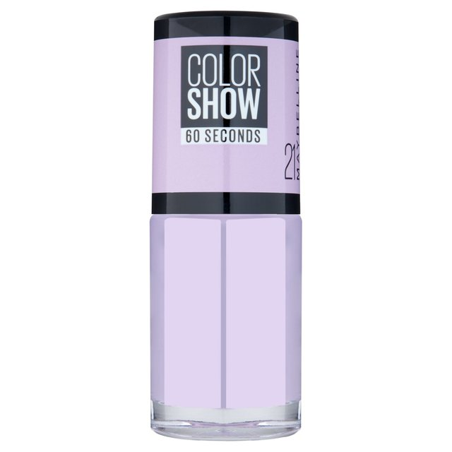 Morrisons: Maybelline Color Show Nail Polish Lilac Wine 21 7ml ...