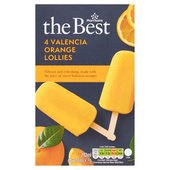 Morrisons The Best Valencia Orange Lollies 4 Pack