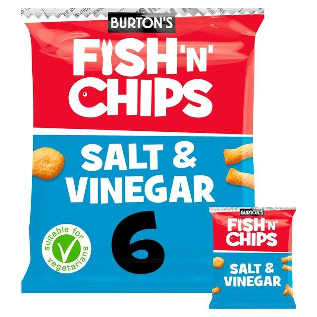 Morrisons fish n chips salt vinegar 6 x 25g product for Fish and chips vinegar