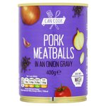 Can Cook Pork Meatballs In An Onion Gravy