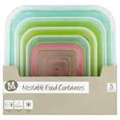 Morrisons Nestable Food Containers