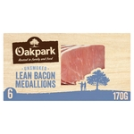 Oakpark Unsmoked Bacon Medallions 6 Pack