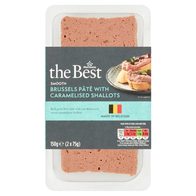 Morrisons The Best Brussels Pate  with Caramelised Shallots