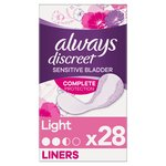 Always Discreet Incontinence Liners Light For Sensitive Bladder 28 pack