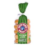 New York Bakery Co. Red Onion & Chive Bagels