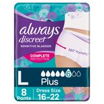 Always Discreet Pants Large