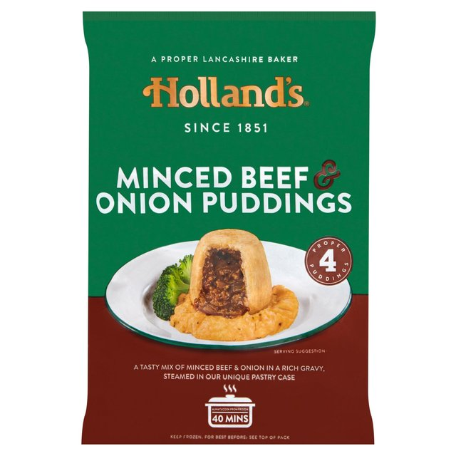 Holland's Minced Beef & Onion Pudding