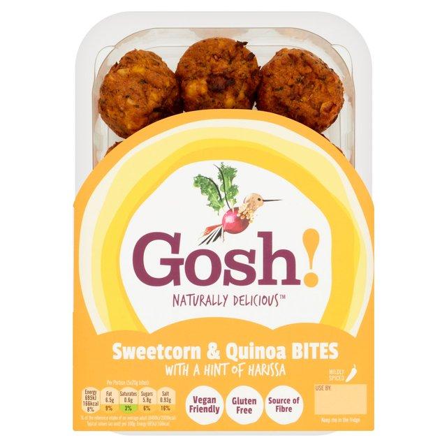 Gosh Sweetcorn And Quinoa Bites