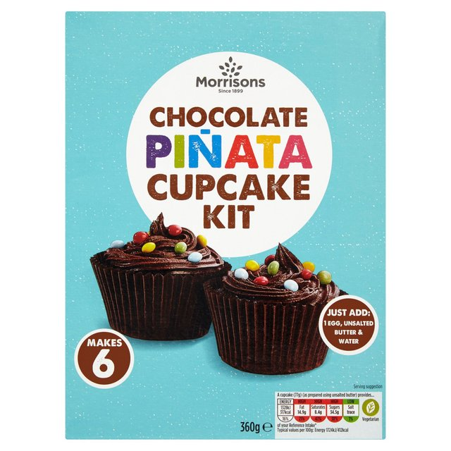 Morrisons Chocolate Pinata Cupcake Mix