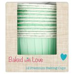 Bakes With Love Aqua Baking Cups