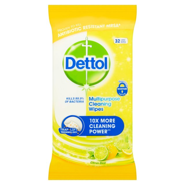Dettol Power & Fresh Citrus Wipes