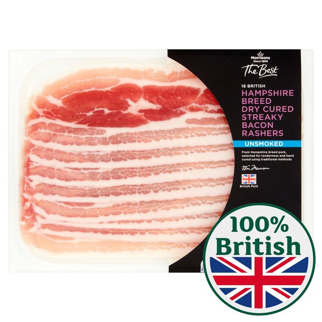 Morrisons The Best Dry Cure Unsmoked Streaky Bacon