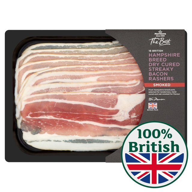 Morrisons The Best Dry Cure Smoked Streaky Bacon