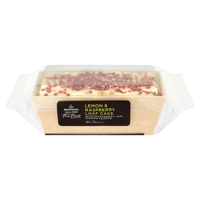 Morrisons The Best Lemon & Raspberry Loaf Cake