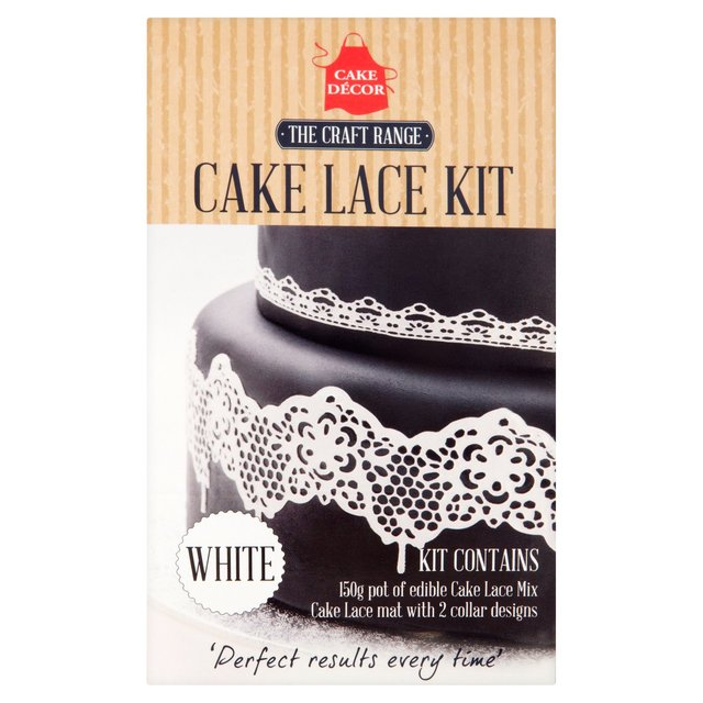 Cake Decor Kit : Morrisons: Cake Decor White Cake Lace Kit 150g(Product ...