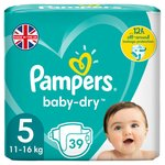 Pampers Baby Dry Nappies Size 5 Essential Pack