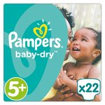 Pampers Baby Dry Nappies Size 5+ Carry Pack