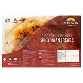 The Clay Oven Bakery Spicy Naan Bread