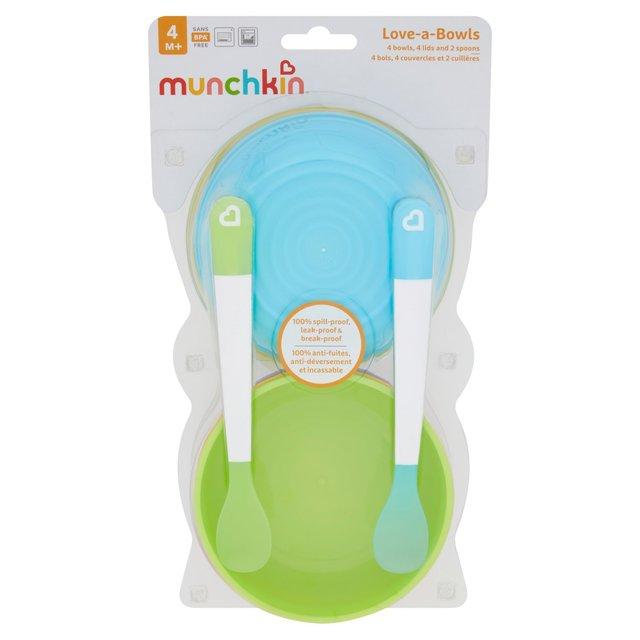 Munchkin Love A Bowls 10 Piece Bowl & Spoon Set