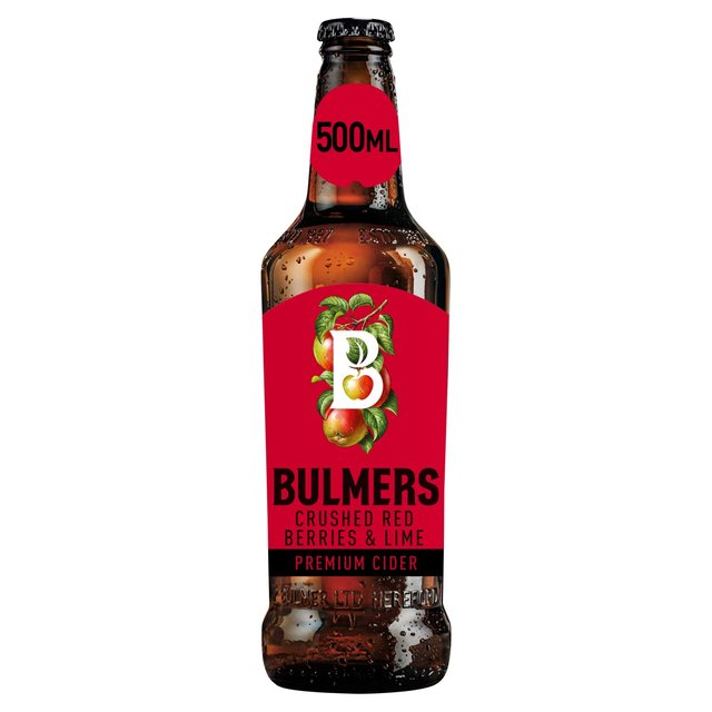 Bulmers Crushed Red Berries & Lime Cider Bottle