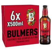 Bulmers Crushed Red Berries & Lime Cider Bottles