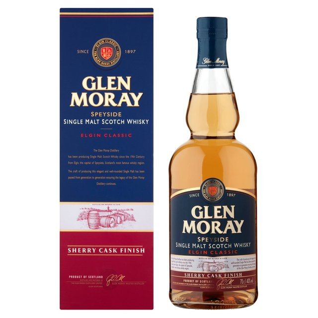 Glen Moray Sherry Cask Finish Single Malt Whisky