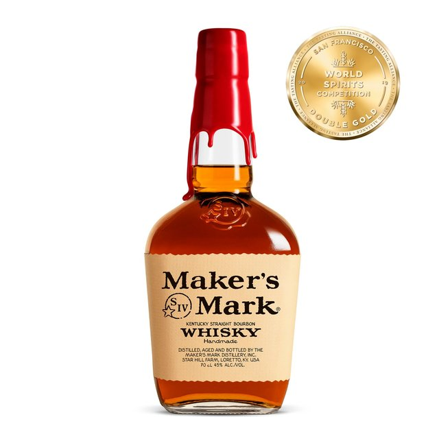 Morrisons Makers Mark Bourbon Whiskey 70cl Product