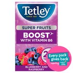 Tetley Super Fruit Vitamin B Blueberry and Raspeberry Tea 20's