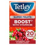 Tetley Super Fruit Vitamin B Cranberry and Elderflower Tea 20's