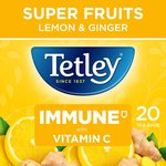 Tetley Vitamin C Lemon and Ginger Tea 20's