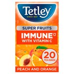 Tetley Super Fruit Vitamin C Peach and Orange Tea 20's