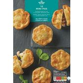 Morrisons Steak & Ale, Chicken, Ham & Leek Mini Pies