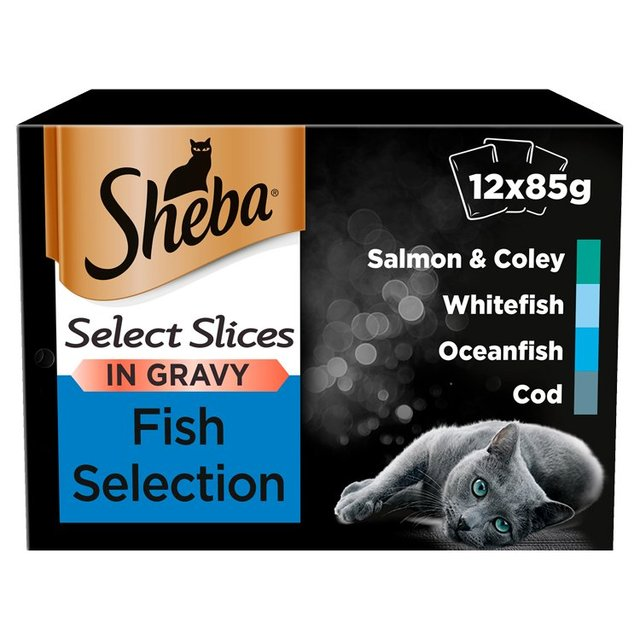 Sheba Select Slices Adult Wet Cat Food Pouches Fish Collection in Gravy