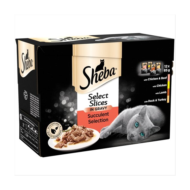 Sheba Select Slices Adult Wet Cat Food Pouches Succulent in Gravy