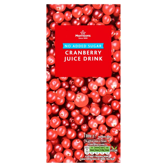 Morrisons No Added Sugar Cranberry Juice Drink