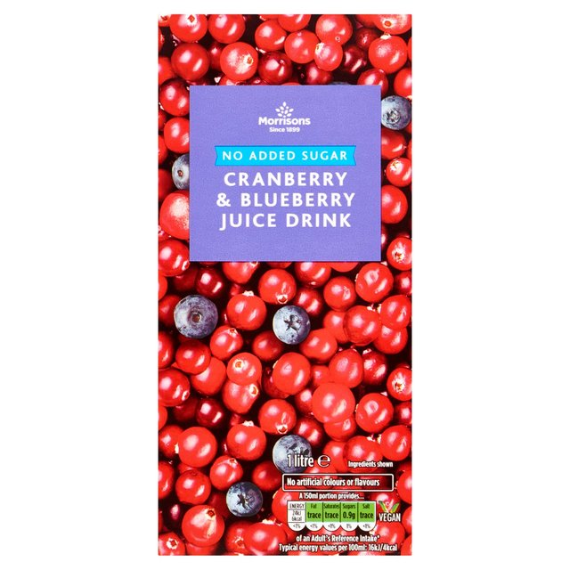 Morrisons: Morrisons No Added Sugar Cranberry and Blueberry Juice